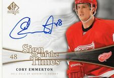 cory emmerton detroit red wings auto card 2011/12 sp authentic