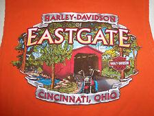 Harley-Davidson Motorcycles Eastgate Cincinnati, Ohio Orange Sleeveless Shirt L