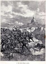 1849:REPUBBLICA ROMANA:ROMA:ASSEDIO:30 APRILE:ATTACCO FRANCESE.Risorgimento.1892