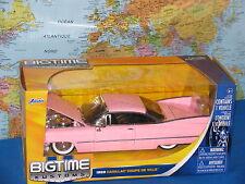 1/24 Jada Bigtime Kustoms 1959 Cadillac Coupe De Ville Rosa Marca Nuovo e Raro