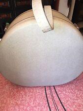 "SAMSONITE SILOUETTE ~ VTG Train Case Round Suitcase Travel Hat Box Hard 18"""