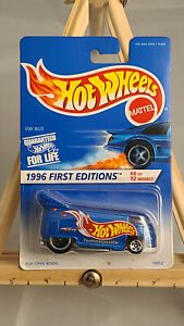 1996 REPLICA OF Hot Wheels First Edition #6 OF#12 VW DRAG BUS 1:64 METAL DIECAST