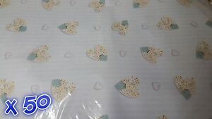 50 Sheets of Thick Wrapping Paper 49 cm x 69 cm Glossy Baby Blue Quality Joblot