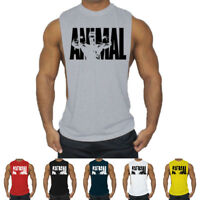 Men's Gym Singlet Training Bodybuilding Tank Top Vest Sleeveless Fitness T-Shirt