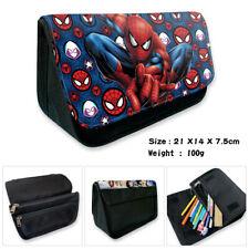Marvel DC batman deadpool canvas pencil case zip pen bag storage case for kids