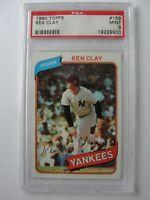 1980 Topps New York Yankees #159 KEN CLAY PSA 9 Mint Baseball Card