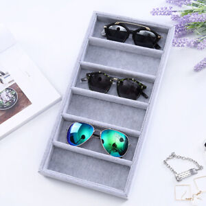 6-Slot Eyeglasses Sunglasses Glasses Storage Case Jewelry Display Box BO