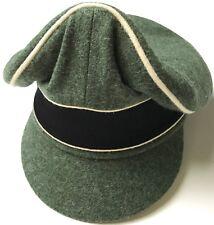"WWII GERMAN WAFFEN EM NCO M1938 EARLY WAR WOOL VISOR ""CRUSHER"" CAP-MEDIUM"