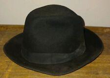 Vintage Men's Thoroughbred Bowler Hat Fedora Black size 7-1/8