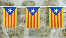 More details for catalonia estelada blava region spain flag polyester bunting - various lengths