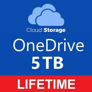 OneDrive 5TB Cloud Storage LIFETIME - Instant Automatic Delivery
