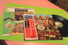 BEATLES LP SGT PEPPER'S JAPAN NM INSERTS AND OBI !! TOP COLLECTORS
