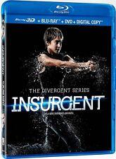 USED 3D + BLU RAY + DVD - INSURGENT - DIVERGENT SERIES - Shailene Woodley,