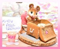 ❤️Wee Forest Folk M-126 Attic Treasure Rose Pink Dress Chest Retired Mouse WFF❤️