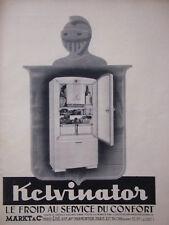 PUBLICITÉ DE PRESSE 1950 KELVINATOR LE FROID AU SERVICE DU CONFORT - ADVERTISING