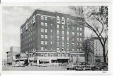 B&W VIEW~HOTEL LINCOLN-DOUGLAS & STREET SCENE~QUINCY,IL