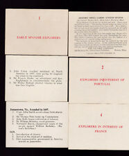 United States History Drill Cards Clara E Parker 1921 Palmer Company in box