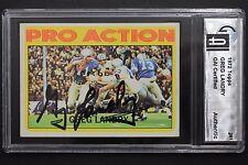 Greg Landry Detroit Lions Umass Autógrafo 1972 Topps #261 Firmado Tarjetas