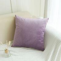 velours doux couleur unie oreiller jeté étui housse de coussin Maison Sofa décor