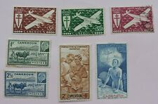 1942-44  stamps from French Cameroun 5 MH  2 used CV £17+