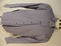 Ted Baker Mens Blue Floral Long Sleeve Cotton Shirt XL