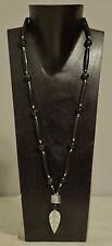 Necklace African Masai Aluminum Spear Pendant Black Horn Beaded Necklace