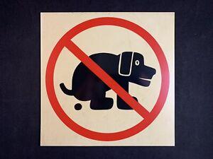 Vintage No Dog Pooping Pet Animal Vinyl Sign Wall Hanging