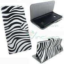 Custodia booklet ZEBRATA per HTC One M9 flip cover STAND case portafoglio zebra