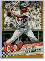 Hank Aaron 2020 Topps Decades Best 5x7 Gold #DB-20 /10 Braves