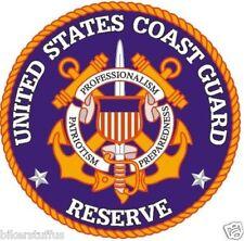UNITED STATES COAST GUARD RESERVE BUMPER STICKER LAPTOP STICKER