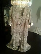 NEW SPENCER ALEXIS 3PC TAUPE LACE ELEGANCE FOR THAT SPECIAL OCCASION SMALL