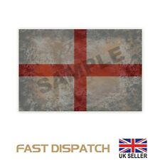 England english Rustic Flag Sticker Decal printed Rugby London flags