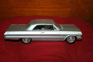 1963 Chevrolet Impala promo 2 door HT cool excellent condition Silver AMT