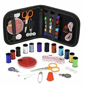 35 Piece Travel Mini Sewing Kit Thread Scissor Tape Pin Thimble Needle Home Sew