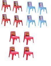 Kids Durable Plastic Chairs Disney Cars Mickey Mouse Frozen Preschool Nursery