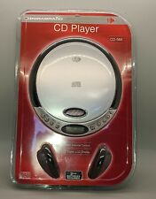 Durabrand Cd Player with Headphones Cd-566 Red Silver Portable Digital Display