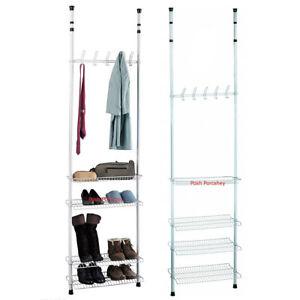 Free Standing Organiser Shoe Adjustable Rack Hanger Towel Rail Bathroom Shelf