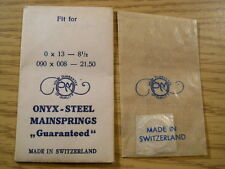 Onyx-Steel Replacement Watch Mainspring - 0 x 13 - 8 1/2 - .90 x .008 x 21.50mm
