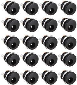 20Pcs DC-022 5.5 X 2.1mm Panel Mount 3Pin DC Power Female Jack Socket Connectors