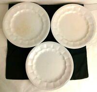 3 ~ Elsmore & Forster Wheat White Ironstone Dinner Plate Circa 1853 - 1871