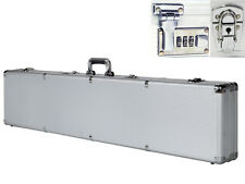 "Long 53"" Aluminum Locking Rifle Gun Case Storage Box Shotgun Combination w/Keys"