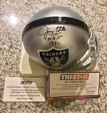 JIM OTTO AUTOGRAPH OAKLAND RAIDERS MINI HELMET HOF 1980 INSCRIPTION TRISTAR COA