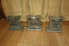 3 Vintage Metal Universal 2 Slice Toasters Art Deco  #2779