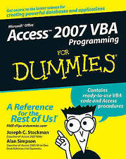 Access 2007 VBA Programming For Dummies (For Dummies (Computer/Tech))