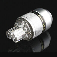 SONAR QUEST Aluminum Alloy 4N Silver Plated Power Plug IEC Connector