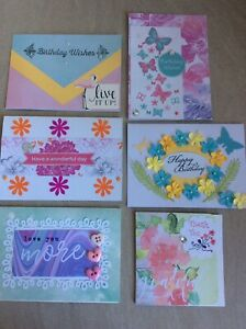 Handmade Card Bundle, Various Sizes, 6pcs, Comes With Envelopes, Birthday+Other