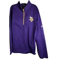 Majestic NFL Minnesota Vikings  Football Men's M 1/4 Zip Pullover Purple New