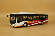 1/42 China Dongfeng Chaolong BEV bus diecast model red/white color
