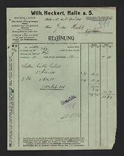 HALLE/SAALE, Rechnung 1912, Wilh. Heckert Eisengußwaren