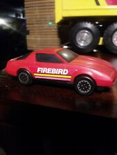 VINTAGE BUDDY L PONTIAC FIREBIRD 1982  RED PLASTIC JAPAN CAR TOY HONG KONG